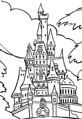 Coloriages page 18 - Coloriage chateau de princesse ...